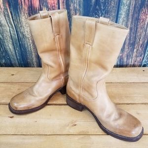Hedendaags Dr. Adams Shoes | Dr Adams Mens Tan Leather Round Toe Cowboy Boots IR-19